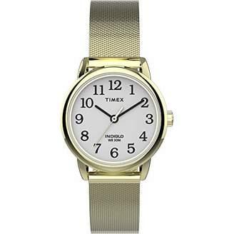 Timex Women's TW2U08000 Easy Reader 25mm Gold-Tone Stainless Steel Mesh Bracelet Watch