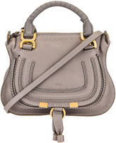 Chloé Mini Marcie Double Carry Bag in Cashmere Grey | FWRD