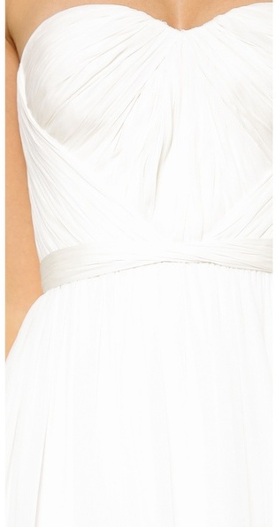 Marchesa Hand Draped Grecian Gown