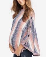 Motherhood Maternity Striped Poncho