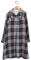 Helena Girls' Tweed Plaid Jacket