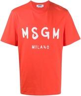 MSGM logo-print boxy T-shirt