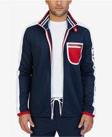 Nautica Men's Signature Logo Heritage Track Jacket