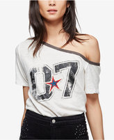 Free People Lucky Star Off-The-Shoulder Graphic T-Shirt