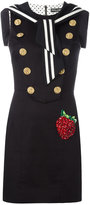Dolce & Gabbana strawberry patch sailor dress - women - Cotton/Polyamide/Polyester/Wool - 46