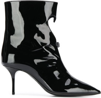 MSGM bow heart ankle boots