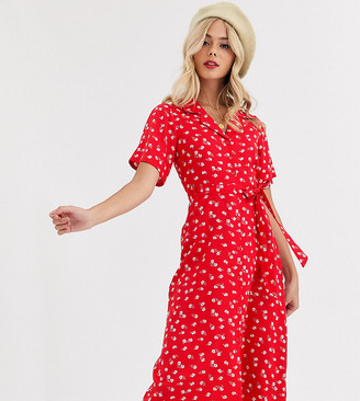 Wednesday's Girl midi shirt dress in floral print