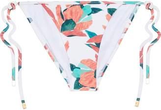 Vix Paula Hermanny Bluebell Floral-print Low-rise Bikini Briefs
