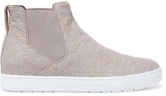 Vince Newlyn Wool-blend Felt Slip-on Sneakers