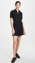 Victoria Victoria Beckham Short Sleeve Pocket Dress