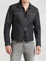 John Varvatos Denim Zip Jacket
