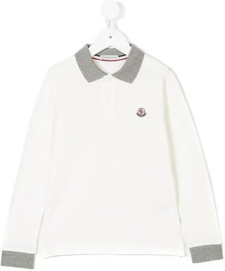 Moncler Enfant Long Sleeve Polo Shirt