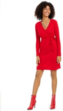 Charter Club Cashmere Faux-Wrap Dress, Created for Macy's
