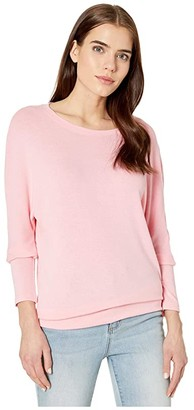 Cupcakes And Cashmere Ivery Ultra Soft Dolman Sweater (Peony) Women's Sweater