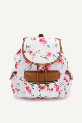 Ardene Floral Flap Backpack