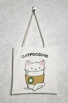 Forever 21 Catpuccino Graphic Canvas Tote