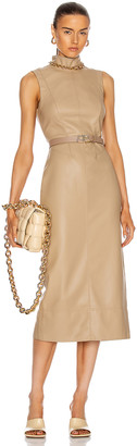 Alexis Farrah Vegan Leather Dress in Taupe | FWRD