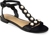 Marc Fisher Elana Pearl-Embellished Sandals