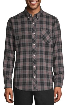 One Day Away Men's Long Sleeve Brushed Flannel Shirt