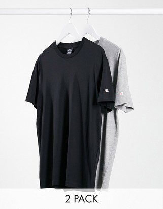 Champion 2 pack t-shirts in grey & black SAVE