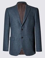 Collezione Pure Cashmere 2 Button Semi Plain Jacket With Buttonsafetm