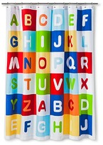 Nobrand No Brand Kids A to Z Shower Curtain - Multi-colored