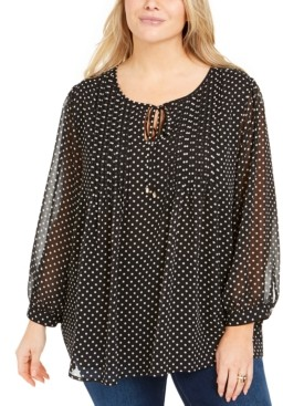 Tommy Hilfiger Plus Size Pintuck Top