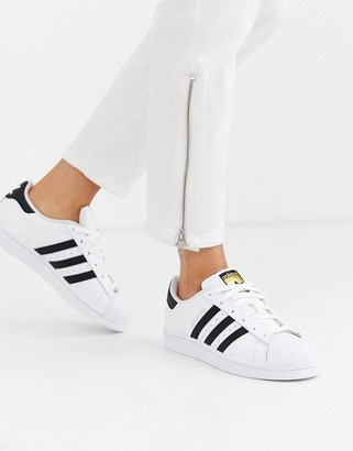 adidas Superstar sneakers in white and black