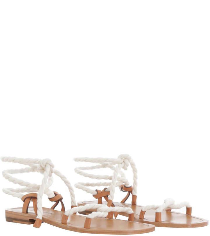 Zimmermann Rope Tie Flat Sandal