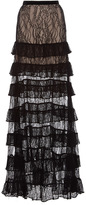 Alexis Vicky Tiered Lace Maxi Skirt