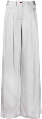 Jejia Wide Leg Striped Trousers