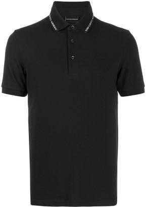 Emporio Armani Logo Trimmed Polo Shirt