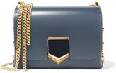 Jimmy Choo Lockett Petite Leather Shoulder Bag - Storm blue