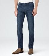 Reiss Reiss Kraft - Stretch Denim Jeans In Blue