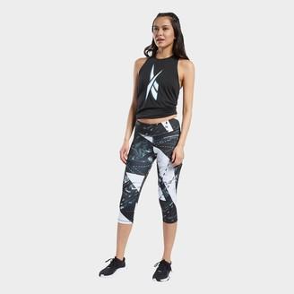 Reebok Women's Workout Ready Printed Capri Training Tights