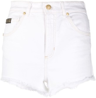 Versace High-Rise Frayed Shorts