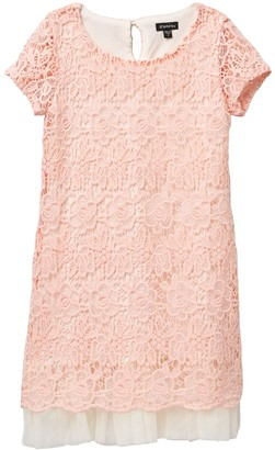 Zunie Short Sleeve Lace Dress (Big Girls)