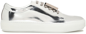 Acne Studios Embellished Mirrored-leather Sneakers