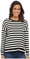 Velvet by Graham & Spencer Teresita03 Cozy Jersey Stripe Long Sleeve Pullover
