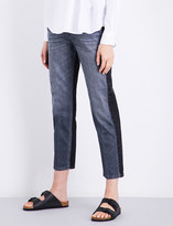 Closed Heartbreaker two-tone girlfriend-fit mid-rise jeans