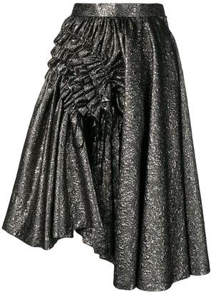 Comme des Garcons metallic cloqué skirt