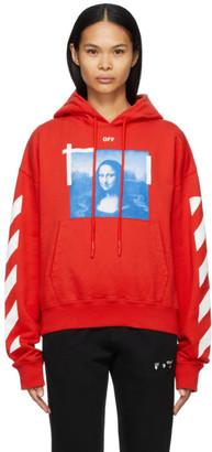 Off-White Red Mona Lisa Hoodie