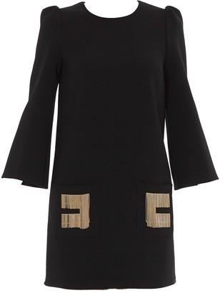 Elisabetta Franchi Chain Detailed Mini Dress