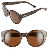 Jonathan Adler Women's 'Monte Carlo' 52Mm Cat Eye Sunglasses - Black