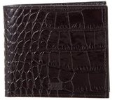 Class Roberto Cavalli Embossed Leather Bifold Wallet