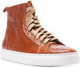 Donald J Pliner Men's Lenio Crocco Hi-Top Sneakers