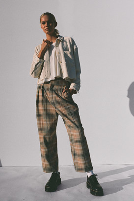 Urban Outfitters Paige Pleated Cropped Trouser Pant