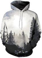 Pink Wind PinkWind Unisex Plus Size Print Big Pocket Ugly Xmas Sweatshirt Hoodie M