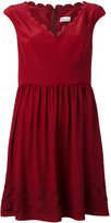 RED Valentino scalloped edge skater dress