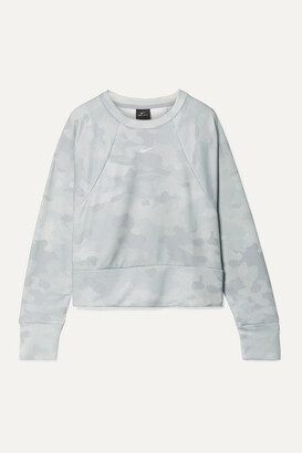 Nike Rebel Camouflage-print Dri-fit Sweatshirt - Light gray